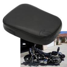 Кожаные Мотоциклетные пассажирских спинки сиденья заднем Подушка Pad черный Универсальный для Harley Chopper Cruiser Bobber Пользовательские Glide No name 32647060893