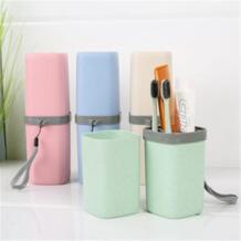 Творческой стороны чашка набор Зубная щётка путешествия коробка для хранения Портативный Зубная щётка чашка набор попутчик студент поставляет Материал + Plasti SAFEBET 32861571465