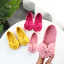 Модная симпатичная обувь для девочек; балетки из флока с бантом для девочек; вечерние балетки на плоской подошве для девочек No name 32964907168