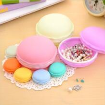 Новое поступление круглый милый Macaroon Cookie дизайн карамельный цвет мини коробка для хранения шкатулка WZYJKC 32503006768