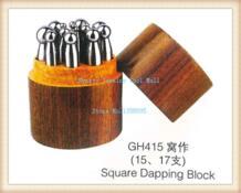 17 шт. набор квадратный пунзель Dapping удары пунзель набор ювелирных изделий инструменты KYNGTY 32655332931