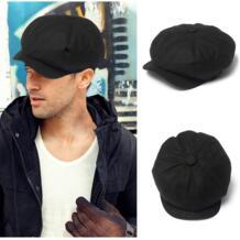 Для мужчин; твид остроконечные восьмиугольная берет Кепки s черный Gatsby Кепки, Для мужчин Для женщин газетчик художник шапки-береты Гольф плоской подошве для вождения Фуражки Wuke 32848647452