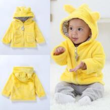Пальто с капюшоном для новорожденных мальчиков и девочек, Осень-зима, с длинными рукавами, сохраняющая тепло, куртка с капюшоном, пальто, одежда, топы зимних костюмов # YL5 ISHOWTIENDA 32914525704