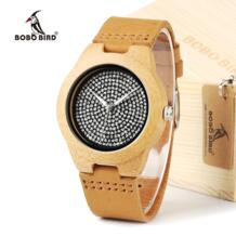 часы браслет из A11 унисекс Мужские часы от топ бренда класса люкс алмаз внутри с натуральная кожа ремень из коровьей кожи кварцевые аналоговые часы из дерева-in Часы для любимого from Ручные часы on Aliexpress.com | Alibaba Group BOBO BIRD 32627650431