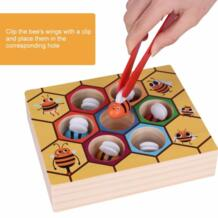 Весело пчела сбор Развивающие игрушки для детей руки схватив обучение деревянные игры инструмент раннего образования реквизит экологичные/Безопасный No name 32871239252