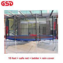 GSD Высокое качество 15 Средства ухода за кожей стоп батут с безопасной сети и Детская безопасность площадки и лестницы и дождевик, tuv-gs, ce, en71 был утвержден No name 32702101257