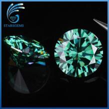 Зеленый цвет 5,5 мм 0,6 карат moissanites свободные драгоценные камни для изготовления ювелирных изделий испытания положительный No name 32779738289
