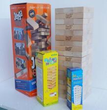 54 шт. Экстра самый большой деревянная игра «Дженга» гигантская игра блоки Строительные блоки лиственных пород игры стеки до 5 + футов. Возраст 6 + взрослые No name 32917679210