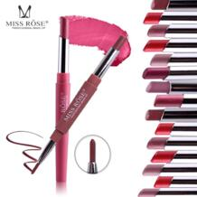 Мисс Роза двойной конец сексуальный функциональный карандаш для губ губы лайнер набор водостойкий Помада-карандаш длительный Пигмент Макияж Косметика MISS ROSE 32888288627