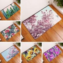 Коврик для ванной с цветочным принтом, 50x80 см, коврик для туалета, впитывающий душ, коврик для ванной комнаты, напольный коврик, коврик для кухни, коврик для пола, оптовая продажа Darkrai 32811563588