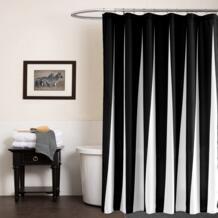 Современные Полиэфирные занавески для душа черный белый полосатый водонепроницаемая ткань с рисунком для ванной экологически чистый дом гостиничный сервис Pa.an 32809988587