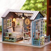 Muñeca casa miniatura DIY casa de muñecas con muebles de casa de madera juguetes para niños Regalo de Cumpleaños Z07 CUTEBEE 32829899301