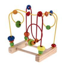 Детские деревянные игрушки математические счеты круги счеты проводной ЛАБИРИНТ горки вокруг шнур для бус лабиринт Детские развивающие игрушки VKTECH 32804608653