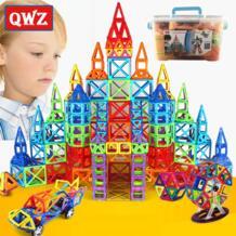 110-252 шт Мини Магнитный дизайнерский Строительный набор модель и строительные игрушки магнитные блоки Развивающие игрушки для детей Подарки QWZ 32847660435