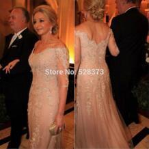MD93 элегантное платье с v-образным вырезом и рукавами 3/4, платья для матери невесты/жениха, наряды розового цвета, торжественное платье 2018 YNQNFS 32890624746
