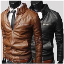 Прямая поставка человек байкер куртка искусственная кожа куртка модный дизайн Большой размер зимняя куртка для мужской одежды slim-подходят пальто W348 No name 32218670827