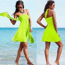 SWIMMART Популярные Кабриолет Cover Up пляжная одежда 2019 Multi носит бесконечное женский любимый женские летние пляжные платья No name 1355189687