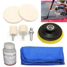 Стекло полировки комплект для удаления царапин 70 мл решение + шерсть полировки колеса + ткань для лобовое стекло автомобиля сзади оконные рамы Mayitr 32824596182