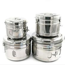 Здоровье и Красота 304 Нержавеющая сталь бинты горшок для хранения tank стерилизация баррель обеззараживания коробка CWAYY 32892679658