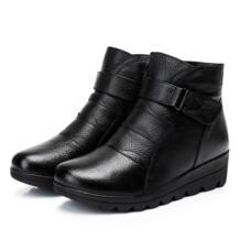 Обувь Женские ботинки 2019 зимние Ботинки дамские зимние сапоги из натуральной кожи Женские ботинки; теплая зимняя обувь с внутренней отделкой из плюша; большие размеры 41 GKTINOO 32732280299
