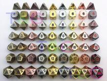 Высочайшее качество горячей металла, кости 7 Набор кубиков d4 d6 d8 d10 d12 d20 для настольных игр Rpg Dados jogos dnd с коробки для игрушка в подарок No name 32730148621