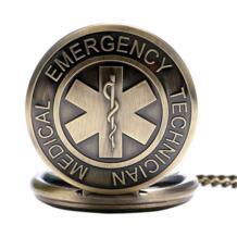 Античная емт дизайн кварц полный охотник специалист по оказанию неотложной помощи Цепочки и ожерелья цепи медсестра карманные часы лучшие подарки YISUYA 32497296461