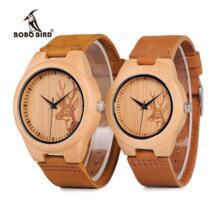 Бобо птица часы для мужчин Лось голова оленя Bamboo часы с гравировкой для женщин с пояса из натуральной кожи влюбленных наручные relogio masculino BOBO BIRD 32611441388