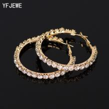 2018 Новое дизайнерское ожерелье с искусственным бриллиантом Для женщин золотого и серебряного цвета, серьги в виде колец, Модные украшения серьги для Для женщин # E029 YFJEWE 1941669904