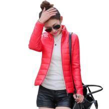 Новинка 2018, Женская куртка, чтобы согреться зимой, мягкий шелк, дамская модная повседневная тонкая стеганая зимняя куртка AOWOFS 32467296888