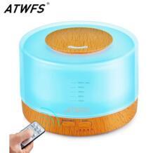 500 мл пульт дистанционного управления ароматерапия увлажнитель воздуха ультразвуковой аромат ароматизатора Лампа Диффузор эфирного масла 7 цветов светодиодный свет ATWFS 32807906886