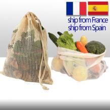 Хлопковые овощные мешки для домашняя кухонная для хранения Многоразовые производящие сетчатые сумки для фруктов Экологичная организация ULKNN 1000008202461