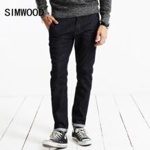 новые 2019 весенние джинсы Для мужчин Винтаж джинсовые штаны Повседневное Брюки Slim Fit брендовая одежда Мужской Джинсовые Брюки SJ6071 Simwood 32776085440