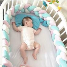 2 м Длина Nodic узел новорожденный бампер длинный завязанный мягкая тесьма Детские накладка на перила кроватки в кроватку Детская комната Декор детские подушки AIBOULLY 32841621315