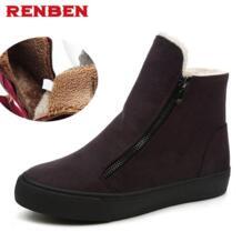 Дамские ботинки сапожки новинка 2017 г. дамские зимние ботинки теплые зимние сапоги модные дамские ботильоны на платформе RenBen 32527461500