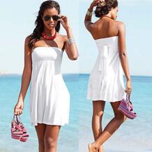 Верхняя облицовка со съемным подкладом 2018 многоизносная конверсионная бесконечная женская летняя обвязанное пляжное платье S. M. L. XL SWIMMART 1357968541