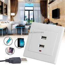 Двойная розетка USB Зарядное устройство AC/DC Мощность адаптер Подключите Outlet плиты Панель Горячие G08 Прямая поставка YAM 32809842643