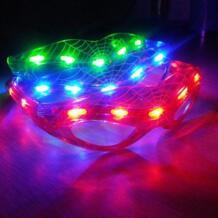 Новинка 9 светодиодный Человек-паук Стиль мигает светодиодный очки световой вечерние яркие светящиеся Классические игрушки для танцев DJ Вечерние TONQUU 32817118113