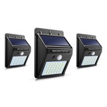 Водонепроницаемые светодиодные светильники для дорожек зарядка солнечных батарей настенный светильник 8-35 светодиодный S высокий яркий Luz Солнечный свет PIR датчик движения светодиодный открытый No name 32932819698