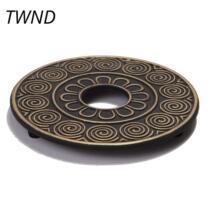 Литой железный чайник Trivets горшок Pad Творческий Теплоизоляция чайник база No name 32888823199