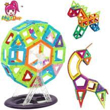 40 шт. мини Магнитная конструкция модели Building Конструкторы игрушка 3D Магнитный конструктор обучения образовательные КИРПИЧ детей Игрушечные лошадки MylitDear 32802867262