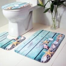 3 шт. коврик для ванной ковер океан подводный мир Противоскользящий туалетный узор фланелевый чехол для сиденья унитаза набор GUIGUIHU 32816801057