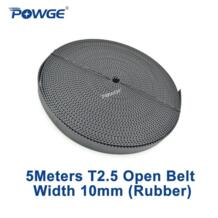 Powge 5 метров T2.5 открытых зубчатых пояса ширина 10 мм шаг 2.5 мм Резина Стекловолокна трапециевидная T2.5-10 мм открытых зубчатых пояса T2.5 шкив No name 1824661849