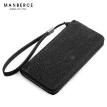 Кошелек из воловьей кожи с длинным дизайном Мужской винтажный кошелек из натуральной кожи, брендовый кошелек-клатч, сумка для iphone No name 746471833