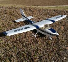 RC игрушечный самолет EPO Cessna 182 1410 мм размах крыльев 6ch с закрылками и светодиодной подсветкой PNP FLIIT 1934791824