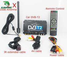 HD tv автомобильный DVB-T2 DVB-T мульти PLP цифровой ТВ приемник автомобильный блок DTV с двумя антенна тюнера No name 32796730504