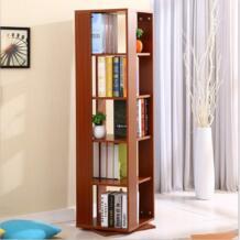 Шкафы для гостиной, мебель для дома, мебель из массива дерева книжная полка 360 градусов Поворот кабинет дисплей книги стоят 123*40*40 см No name 32813415380