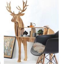 """KING I 44,5 """"Олень деревянный журнальный столик мебель самостроенная головоломка мебель No name 32362362484"""