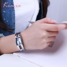 Женская распродажа Новый 2018 модное Брендовое платье Женский браслет часы для женщин алмаз прямоугольник нержавеющая сталь кварцевые часы Kimio 32675742201