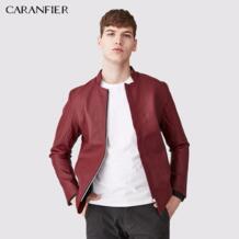 2017 для мужчин из искусственной кожи мотоциклетные красная куртка осень толстые зимние теплые костюмы мужской тонкий раздел повседн CARANFIER 32833129629