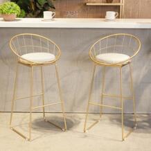65 см 75 см высота сиденья современный Дизайн золотистый и черный металл Лофт барный стул барный металлической проволоки модное популярное pad счетчик stool-1PC No name 32873309104